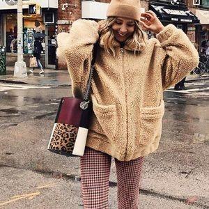 I.AM.GIA- Teddy Sherpa  Pixie Coat